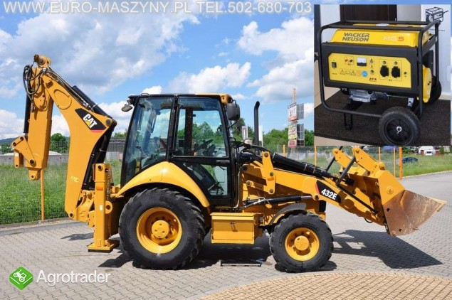Euro-Maszyny CAT 432 E GRATIS AGREGAT WACKERA