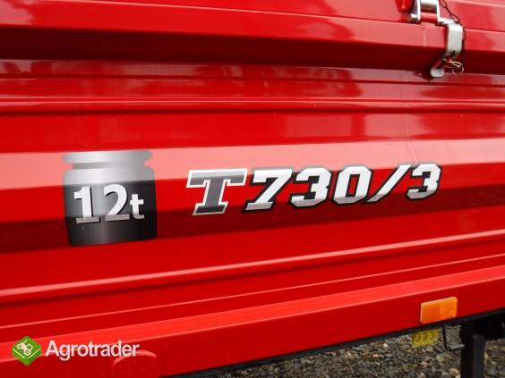 Przyczepa rolnicza T730/3, METAL-FACH, nowa, 12t - zdjęcie 1