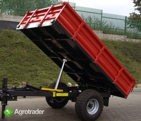 Przyczepa rolnicza T736A, nowa, METAL-FACH, 1,5t, jednoosiowa - zdjęcie 1