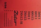 Katalog części zamiennych ZETOR 5011,6011,7011,7045,7045H