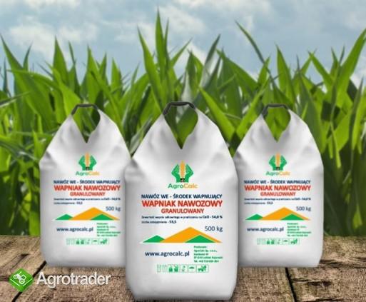 AGROCALC- Kreda Nawozowa Granulowana-Wapniak Nawozowy CaCO₃ 96%, Wapno