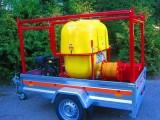 MYJKA CIŚNIENIOWA 250 BAR ( 15l / min ) + opryskiwacz 400L, 13 kM