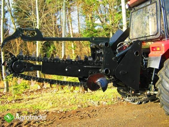 Koparka łańcuchowa napędzane z ciągnika rolniczego 120 CM - zdjęcie 2