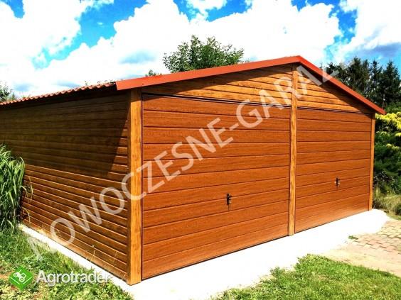 Garaż drewnopodobny przetłoczenia w poziomie CAŁA POLSKA! - zdjęcie 3