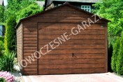GARAŻE BLASZANE imitacja drewna Nowość Garaż blaszany dowolny wymiar