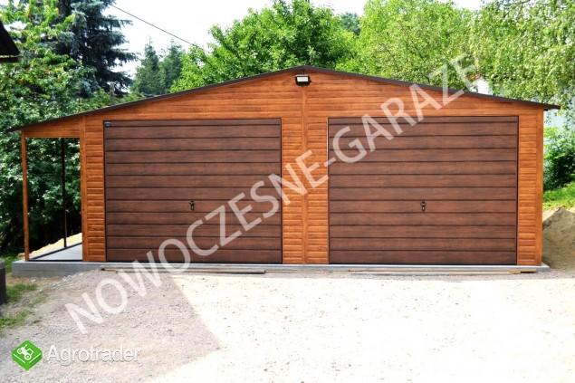 GARAŻE BLASZANE imitacja drewna Nowość Garaż blaszany dowolny wymiar  - zdjęcie 5