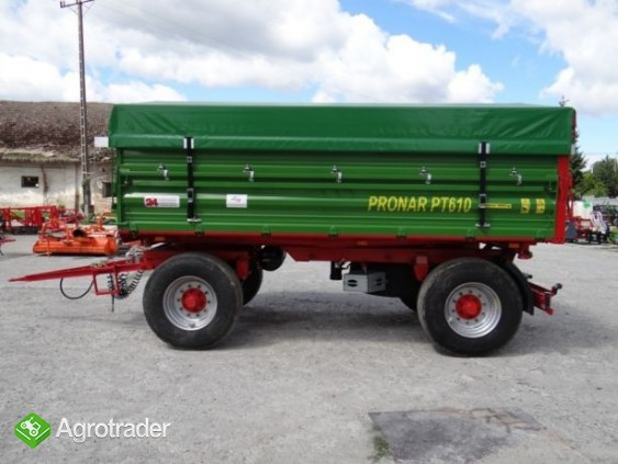 Przyczepa rolnicza 8 t paletowa PRONAR PT608 od ręki wyprzedaż - zdjęcie 5