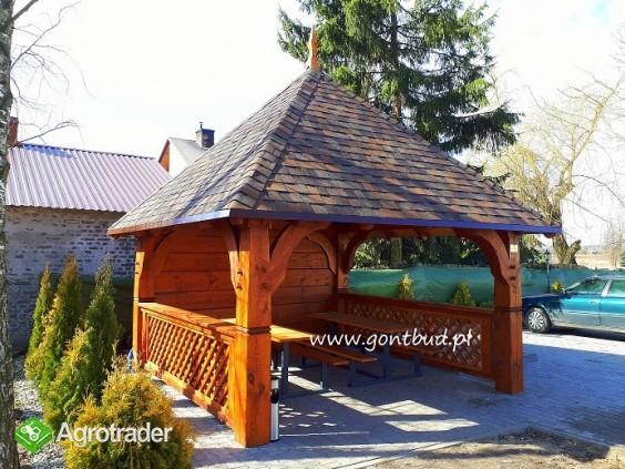altanka+ściany+gonty ( wiaty drewniane garaż altana ) gontbud.pl - zdjęcie 4