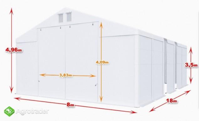Magazyn Całoroczna Hala namiotowa 8m × 18m × 3,5m/4,96m