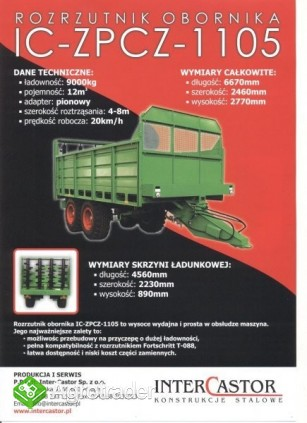Rozrzutnik Obornika jak Fortschritt T-088 (9ton)