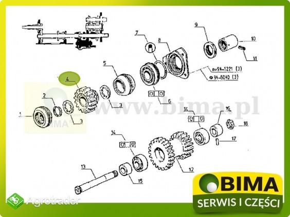 Używane koło zębate wom pto Renault CLAAS 103-12,103-14 - zdjęcie 3