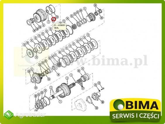 Pierścień uszczelniający kosza McCormick MTX110,MTX120 - zdjęcie 1