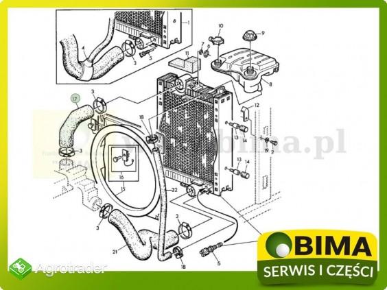 Przewód gumowy chłodnicy górny John Deere 6100,6200 - zdjęcie 2
