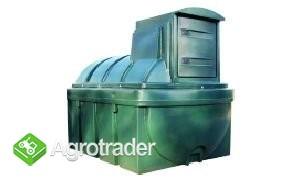 Zbiornik 2500 l dwupłaszczowy z zestawem dystrybucyjnym - olej napędow